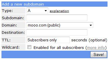 add new subdomain